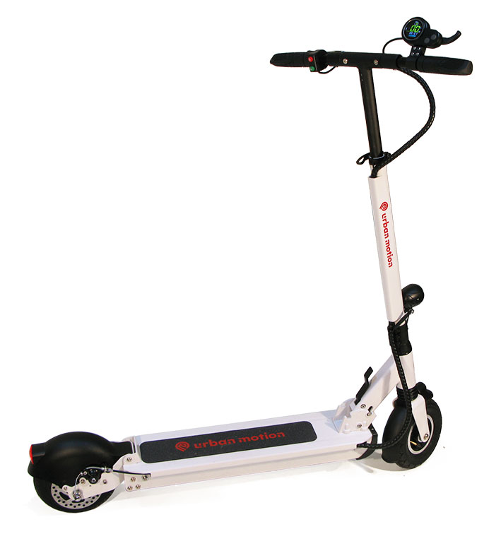 patinete electrico blanco doble suspension Urban motion