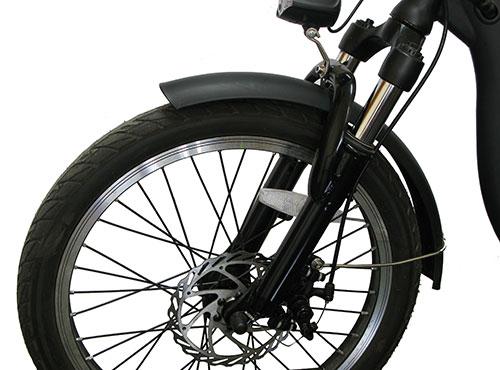 amortiguación delantera bici paseo eléctrica