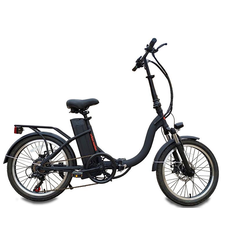 bicicleta eléctrica de paseo negro mate