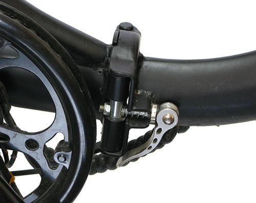 sistema doblado bicicleta eléctrica